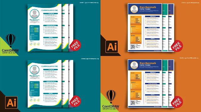 CV Kreatif : Download Kumpulan Contoh Curriculum Vitae Coreldraw