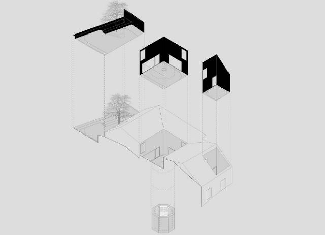 Nhà thoáng mát nhờ 3 khoảng sân trong - Tối giản trong chi tiết thiết kế