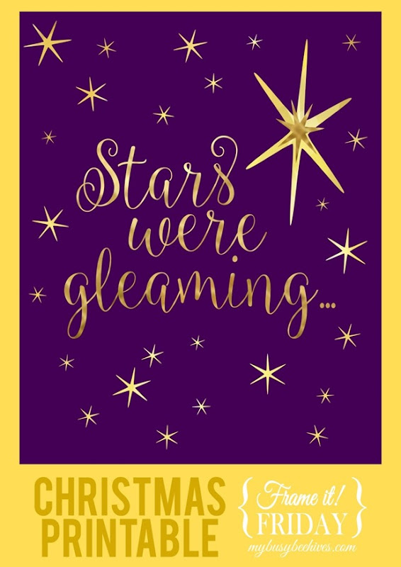 Stars were gleaming... {Frame it! Friday} blog image