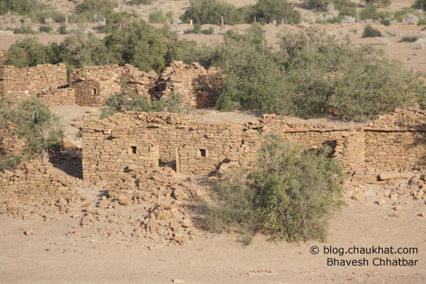 Kuldhara Village in Jaisalmer - Remains of Houses