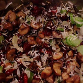 Wild Rice Stuffing with Cranberries and Hazelnuts - Gluten Free & Dairy Free.