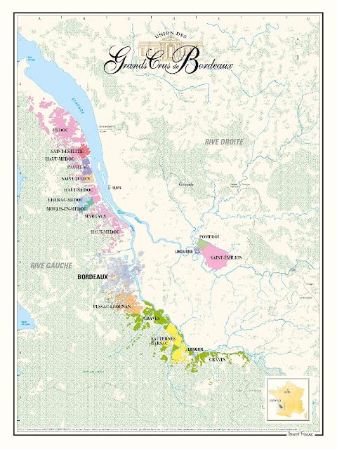 UGCB - Union des Grands crus de Bordeaux Map