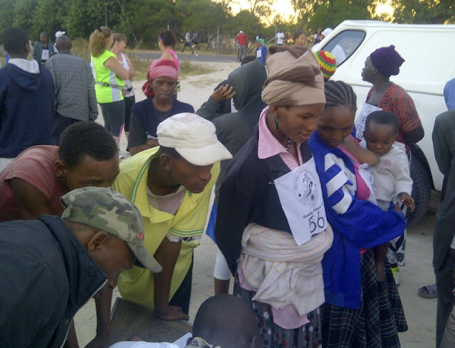 Race Registration at Okavango Half Marathon - my responsibility