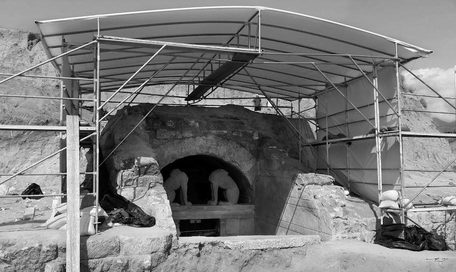 Kasta Hill site in Amphipolis Greece