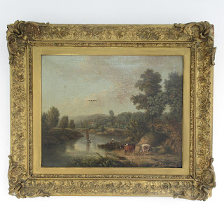Unsigned English Antique Oil Painting
