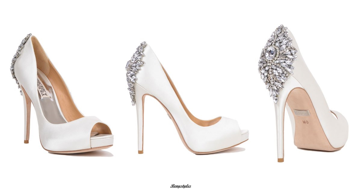 Wedding Shoes and Rhinestone Flowers Shoes
