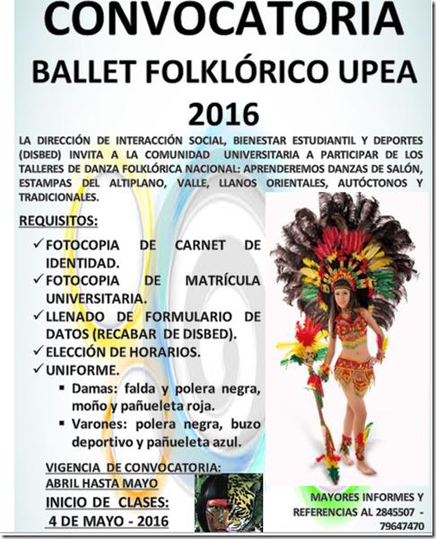 Convocatorias UPEA 2016