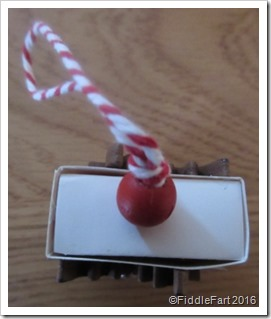 matchbox tree decoration. top