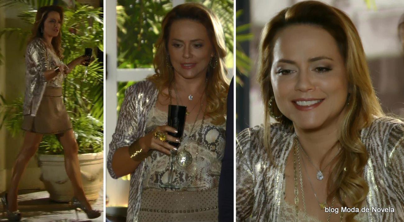 moda da novela Em Família - look da Shirley dia 27 de maio