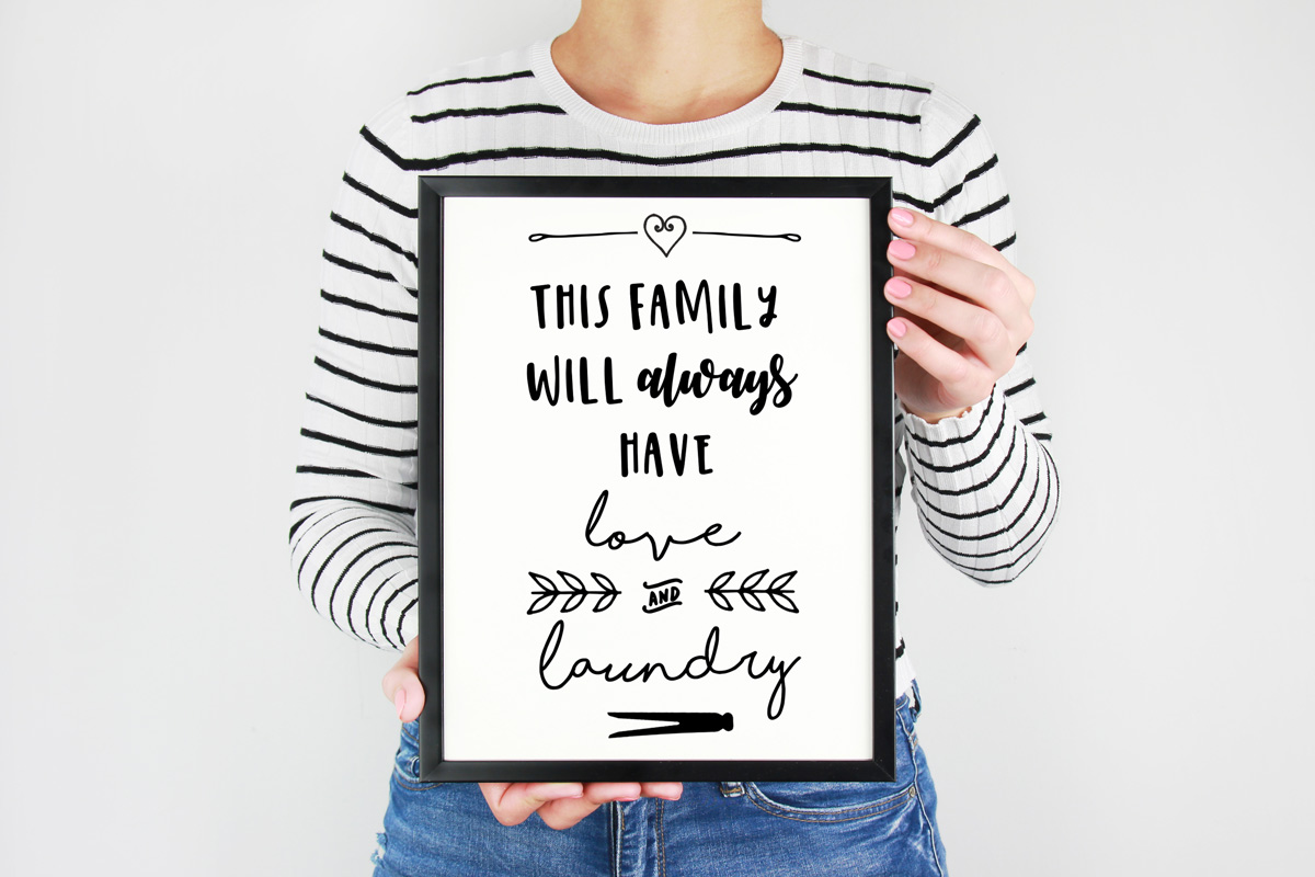 Love and laundry plain printable