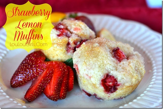 Strawberry-lemon-muffins