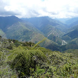 Coroico : vue vers l'ouest et les Andes (Bolivie). 7 février 2008. Photo : J. F. Christensen