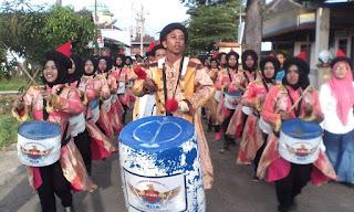 Haflah Akhirussanah Madin Bustanul Mubtadiin Karangrejo Pabelan dimeriahkan dengan Drumblek