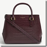 Kurt Geiger London Wine Stamped Leather Tote