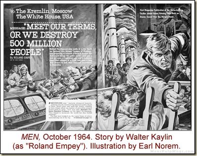 10 - MEN, Oct 1964. Earl Norem art for Walter Kaylin story