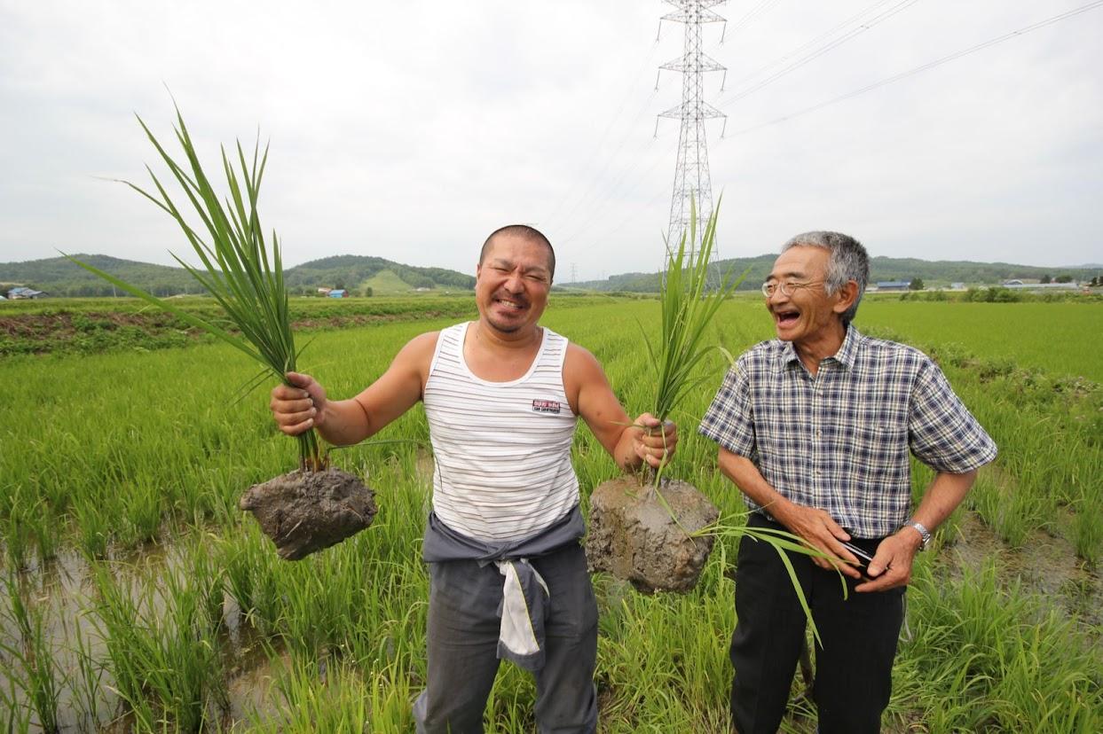 コウキなお米の高田幸輝さんと木村さん