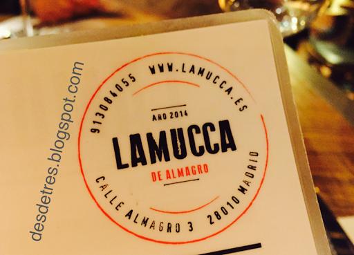 Restaurante LAMUCCA de almagro. Madrid.