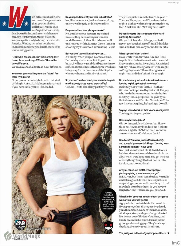 Sophie Monk Heats Up Maxim (July 2011)(celebrities-2photos)2