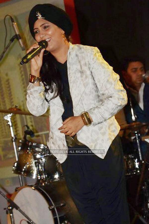 Harshdeep Kaur during the SS Group launch party, held at Taj Vivanta, in Gurgaon.