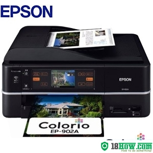 How to reset flashing lights for Epson EP-902A printer