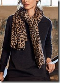 Hush leopard print cashmere scarf