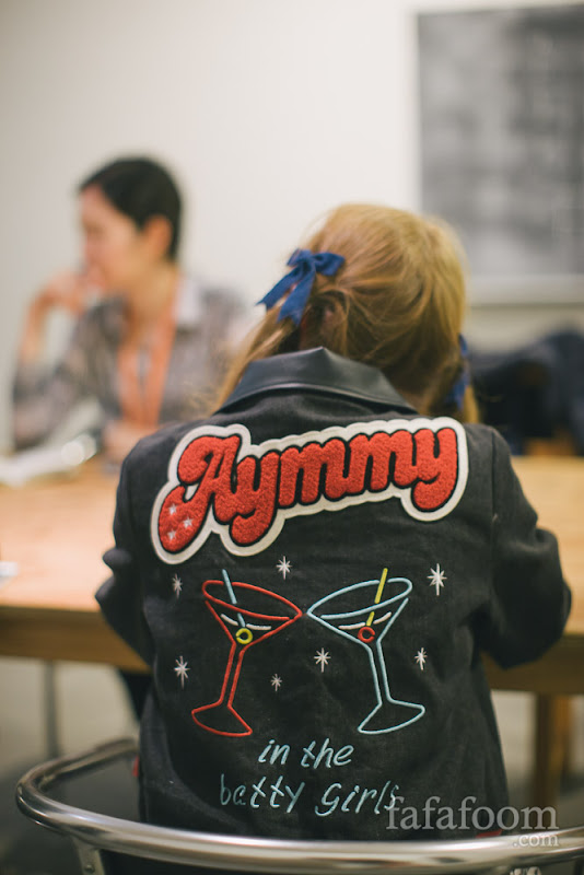 Aymmy in the batty girls jacket