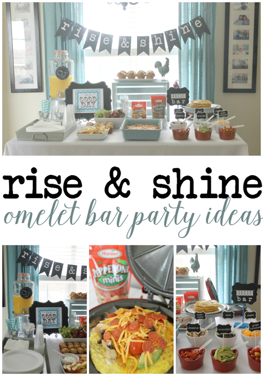 Rise & Shine Omelet Bar Party Ideas at GingerSnapCrafts.com #omeletbar #pepitup #cbias #ad_thumb[2]