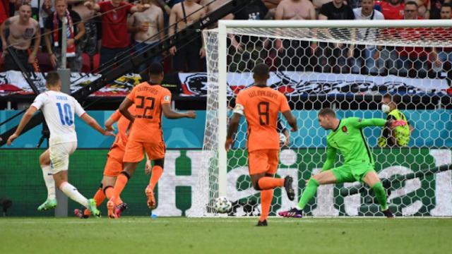تقضي جمهورية التشيك على هولندا من يورو 2020 ، في ربع النهائي تلتقي الدنمارك