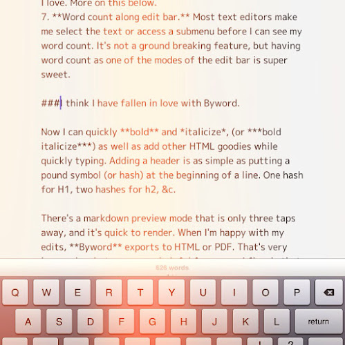 Byword edits with ease