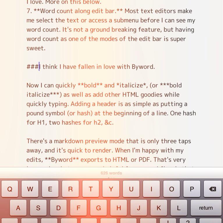 A Splintered Mind Byword The Adhd Friendly Text Editor