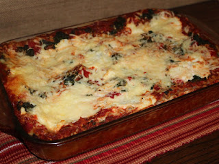 Roasted Red Pepper & Spinach Lasagna Recipe