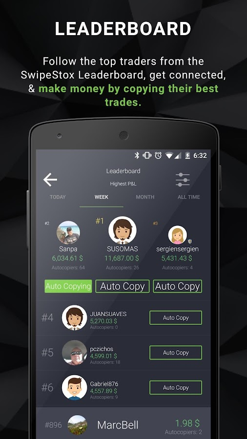SwipeStox - Bitcoin, Stocks, Forex Social Trading- screenshot