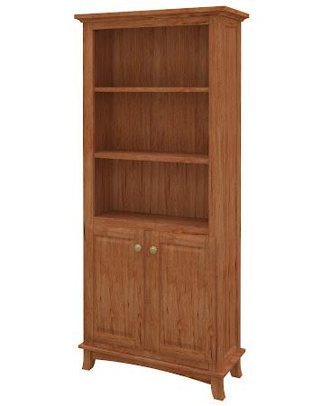 Rochester Wooden Door Bookshelf in Vermont Maple