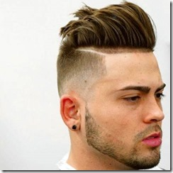 Disconnected Undercut Fade with Textured Slick Back