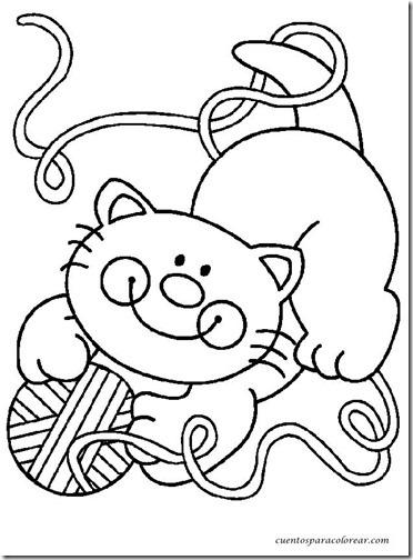 gato a colorear pintaryjugar  (1)