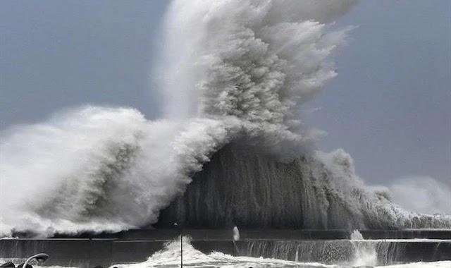 إعصار جيبي المدمر الذي ضرب اليابان