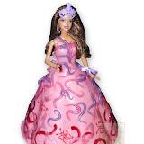 6. kép: Formatorták (lányoknak) - Barbie torta tiarával