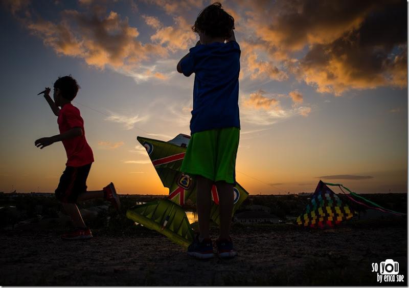 Kite Sunset silhouette-8622