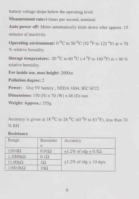 Click Utb 33 Operating Manual For Multimeter