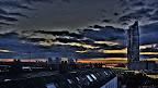 Wien: Milleniumturm, Donauturm, Vereinte Nationen, UNO | Sonnenaufgang