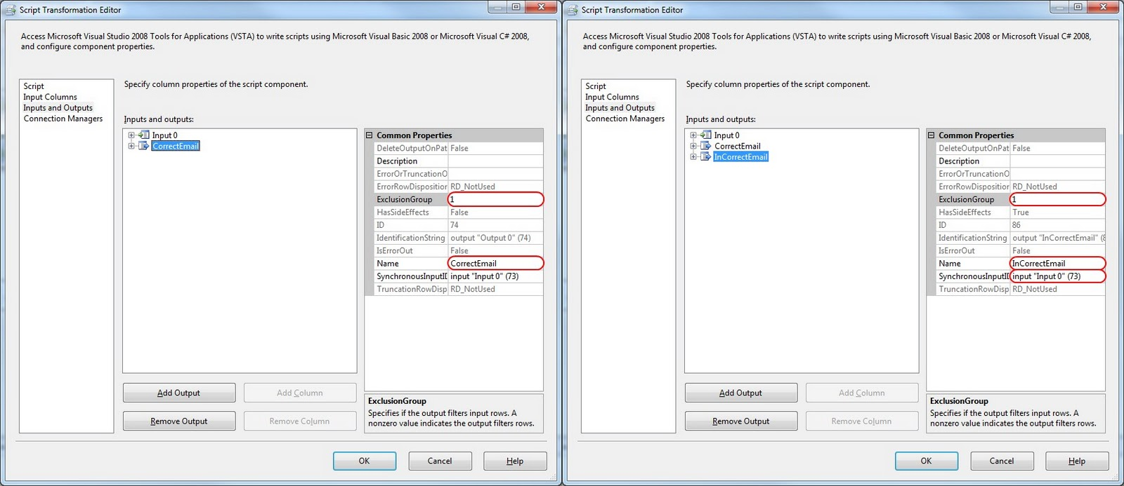 Microsoft sql server integration services regular expressions in ssis inputs and outputs tab baditri Images