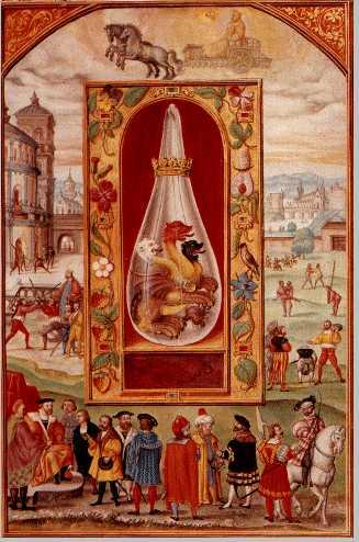 Sun Triple Headed Dragon From Splendor Solis, Hermetic Emblems From Manuscripts 1