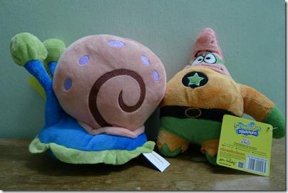 Spongebob's Pet Gary and Patrick Superhero Plush Toys