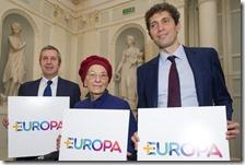 Riccardo Magi con Emma Bonino e Benedetto Della Vedova