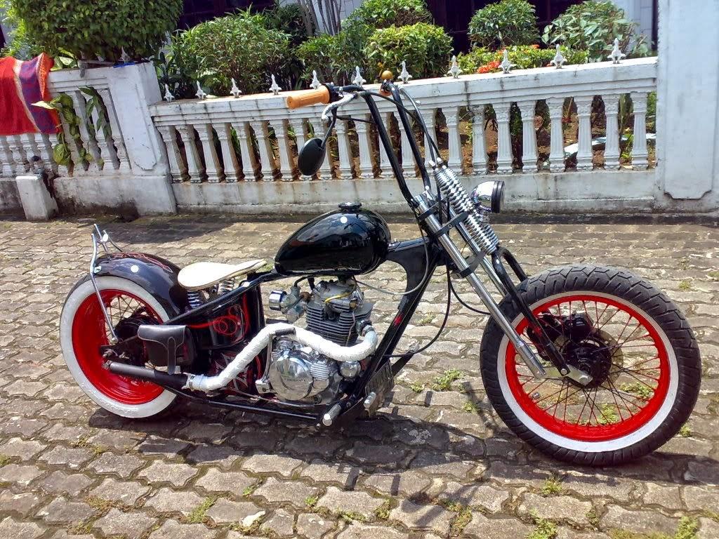 68 Contoh Modifikasi Motor Bebek Jadi Harley Davidson Populer