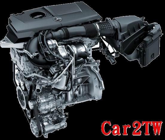 賓士CLA250引擎外觀圖、美規CLA250馬力208匹直列四缸第三代缸內直噴引擎,配合停車自動熄火節能功能ECO-Stop,BENZ CLA250油耗表現市區26英里/加侖(MPG)高速38MPG,CLA250在台灣能源局油耗數字平均13.8km/ltr 市區9.63km/ltr