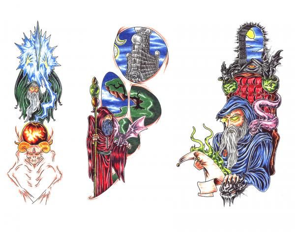 Design Of Magical Tattoo 9, Fantasy Tattoo Designs