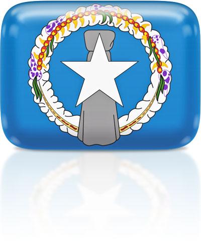 Northern Marianan flag clipart rectangular