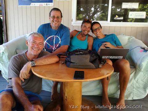 Con Marina e Diego (S/V Meccetroy) al Fakarava Yacht Services - Rotoava