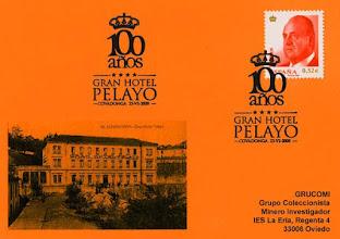 Photo: Matasellos de los 100 años del Gran Hotel Pelayo de Covadonga